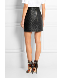 Balmain Quilted Leather Mini Skirt | Where to buy & how to wear : quilted leather skirt - Adamdwight.com