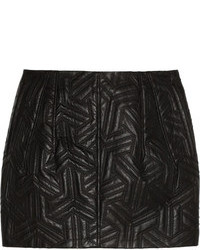 Faith Connexion Quilted Leather Mini Skirt