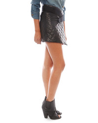 Smythe Quilted Leather Wrap Skirt