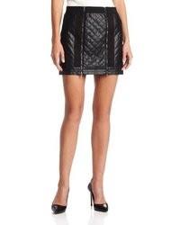 BCBGMAXAZRIA Roxy Quilted Mini Skirt