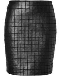 Akris Stretch Leather Mini Skirt