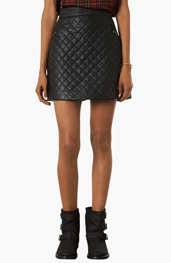topshop quilted a line skirt where to buy how to wear