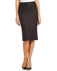 KUT from the Kloth Marcelle Faux Leather Quilted Skirt