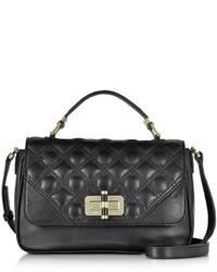 Diane von Furstenberg 440 Gallery Transit Quilted Black Leather Mini Bag