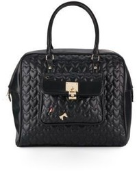 Betsey Johnson Be My Baby Quilted Faux Leather Satchel