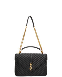 Saint Laurent Black Large College Bag