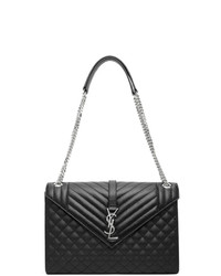 Saint Laurent Black Large Envelope Bag