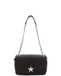 Stella McCartney Black Medium Flap Star Bag