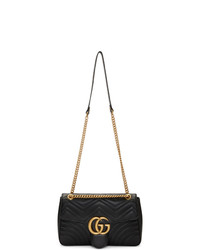 Gucci Black Medium Gg Marmont 20 Shoulder Bag