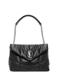 Saint Laurent Black Medium Loulou Puffer Bag