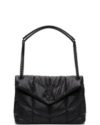 Saint Laurent Black Medium Loulou Puffer Bag