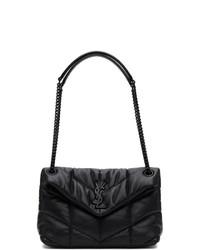 Saint Laurent Black Small Loulou Puffer Bag
