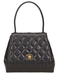 Chanel Black Quilted Lambskin Kelly