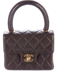 Chanel Quilted Lambskin Mini Handle Bag