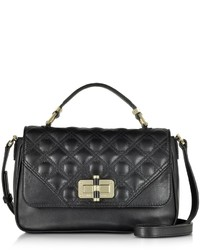 Diane von Furstenberg 440 Gallery Transit Quilted Black Leather Mini Bag