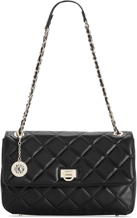 Dkny Quilted Leather Shoulder Bag 21
