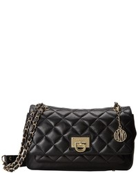 DKNY Gansevoort Quilted Flap Pocket Shoulder W Adjustable Chain Handle