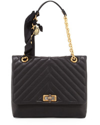 Lanvin Happy Medium Quilt Flap Shoulder Bag Black