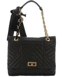 Lanvin Blue Quilted Leather Happy Medium Shoulder Bag