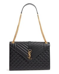 Saint Laurent Large Cassandra Calfskin Shoulder Bag