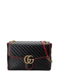 Gucci Large Gg Marmont 20 Matelasse Leather Shoulder Bag