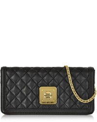 Love Moschino Quilted Eco Leather Clutch Wchain Strap