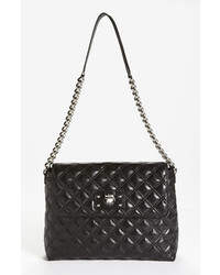 Marc Jacobs The Xl Single Leather Shoulder Bag Black
