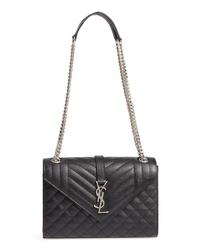 Saint Laurent Medium Cassandra Calfskin Shoulder Bag