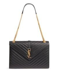 Saint Laurent Medium Ed Matelasse Quilted Leather Shoulder Bag