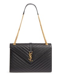 Saint Laurent Medium Ed Matelasse Quilted Leather Shoulder Bag