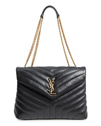 Saint Laurent Medium Loulou Matelasse Calfskin Leather Shoulder Bag