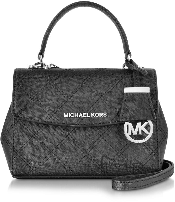 d9edd24912b4 Michael Kors Michl Kors Ava Saffiano Stitch Quilt Leather Extra Small  Crossbody Bag ...