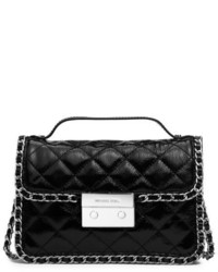 Michael Kors Michl Kors Carine Small Quilted Patent Leather Messenger