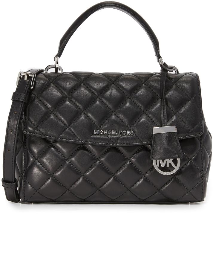 7fc04757d7d0 ... Black Quilted Leather Satchel Bags MICHAEL Michael Kors Michl Michl Kors  Quilted Ava Small Satchel ...