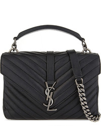 Saint Laurent Monogram Collge Medium Quilted Leather Satchel