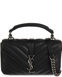 Saint Laurent Monogram Collge Mini Leather Satchel