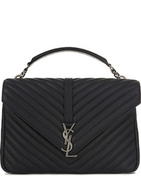 Saint Laurent Monogram Collge Quilted Leather Satchel
