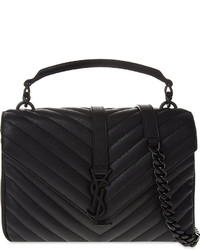 Saint Laurent Monogram Collge Small Quilted Leather Satchel