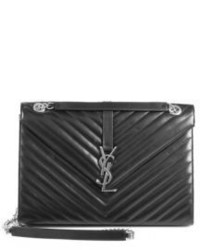 Saint Laurent Monogram Large Smooth Matelasse Leather Shoulder Bag