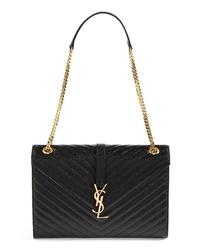 Saint Laurent Monogram Leather Shoulder Bag