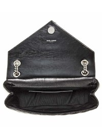 Saint Laurent Punk Monogram Quilted Leather Shoulder Bag