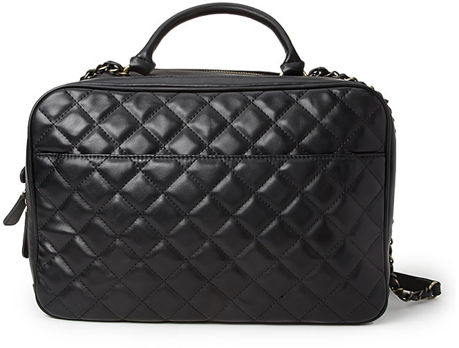 Quilted Faux Leather Satchel Black Bag By Forever 21