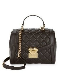 Love Moschino Quilted Leather Satchel