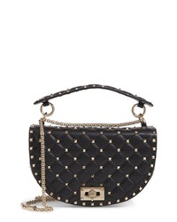 Valentino Garavani Rockstud Spike Leather Saddle Bag