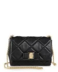 Salvatore Ferragamo Mini Ginny Quilted Leather Crossbody Bag