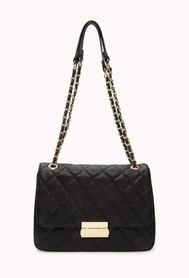 Forever 21 Signature Quilted Shoulder Bag | Where to buy & how to wear : quilted shoulder bags - Adamdwight.com