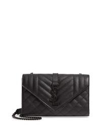 Saint Laurent Small Monogram Quilted Leather Shoulder Bag