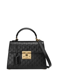 Gucci Small Padlock Signature Leather Bag