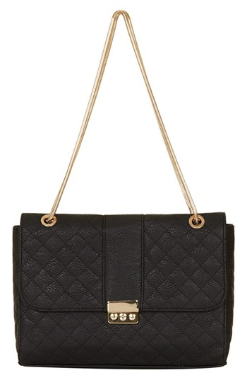 Topshop Black Leather Shoulder Bag 95