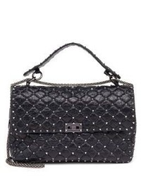 Valentino Rockstud Large Quilted Leather Chain Top Handle Bag